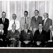 Garden City Co-op Board, 1958 annual meeting.