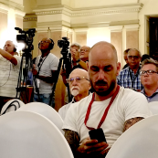 Photo: The conference brought about much interest from the Cuban media.
