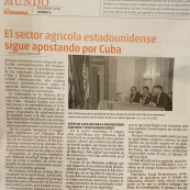 Image: Article about the delegation in a Cuban newspaper.