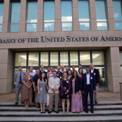 Photo: The delegation in front of the U.S. Embassy in Havana, Cuba.