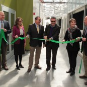 Ribbon-cutting and dedication for the four new greenhouse bays in March 2018.