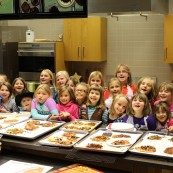 """It also allows us to put on instructional programs like the """"Pizza in a Bag"""" program attended by these fun Girl Scouts!"""