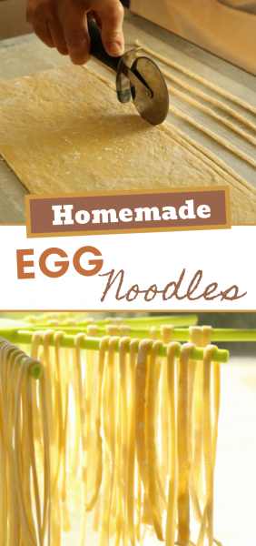 We're just going to say it... Homemade noodles are a lost art, and SO SIMPLE, TOO! You can make these babies with ingredients and tools you're sure to have at home!