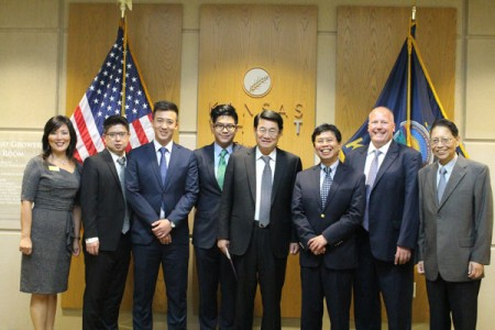 The Taiwan Agricultural Trade Goodwill Mission visited the Kansas Wheat Innovation Center in Manhattan.