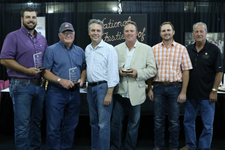 Photo: 2017 Kansas Wheat Yield Contest Winners, Alec Horton, Richard Seck, Lt. Governor Jeff Colyer, Spencer West, Neil Bekemeyer and Kansas Wheat Commissioner Scott VanAllen.