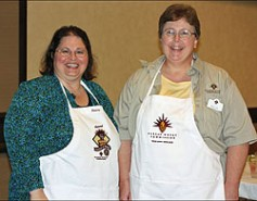 2009 National Festival of Breads winner Dianna Wara with Melanie Eddy.