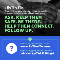 Graphic from the National Suicide Prevention Hotline.