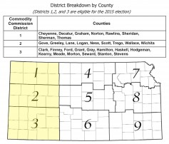 Map: Districts 1, 2 & 3.