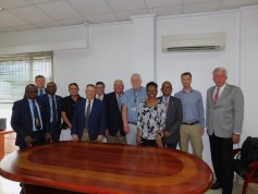 During its stay in Lagos, Nigeria, the 2018 Sub Sahara Africa Board Team met with executives at Flour Mills of Nigeria (FMN) at the company's mill in Apapa area of Lagos.