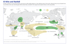 This  map can be helpful in considering the potential impact of El Nino on the global wheat market. Look at the wheat producing areas: U.S., Australia, Russia/Black Sea, India.