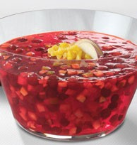 Photo: Festive JELL-O Cranberry-Pineapple Salad from kraftrecipes.com
