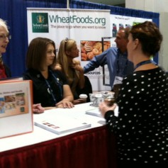 Photo: Wheat Foods Council booth at the Food and Nutrition Expo.
