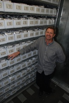Photo: Jon Raup, senior scientist at WGRC, with the gene bank.