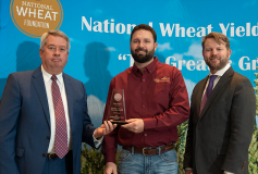 Rick Horton receives award in the National Wheat Yield Contest.