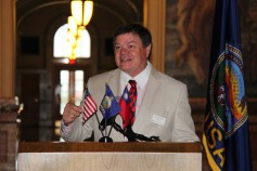 Kansas Wheat Commission Chairman Jay Armstrong speaks to Taiwan Goodwill Mission