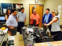 The Peru trade team visited Federal Grain Inspection Service.