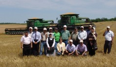 A trade team from Iraq visits the Kansas farm of Joe Kejr.