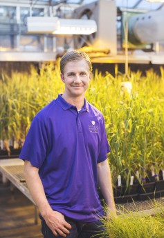 Jesse Poland, assistant director of Kansas State University's Wheat Genetics Resource Center, is part of a collaborative public-private project for an improved whole genome assembly of bread wheat. (Image courtesy of KSU)