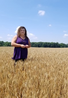 Lynn Moore, a farmer from Pittsburg, Kansas, is one of the 25,000 plus female farmers in Kansas. She runs a fourth generation farm with three different companies of 6,500 acres, where they grow corn, beans and wheat.