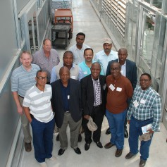 Photo: Nigerian crop team visits Kansas Wheat Innovation Center.