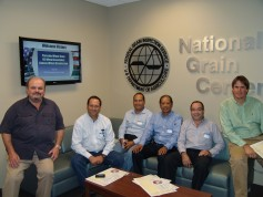 Members of a Peruvian wheat team visit Federal Grain Inspection Service during a trip to Kansas in 2011.
