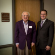 Dr. Barry Flinchbaugh and Dalton Henry at the Kansas Wheat Innovation Center.